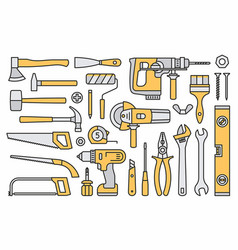 Building tools icons vector