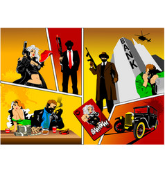History of gangsters vector