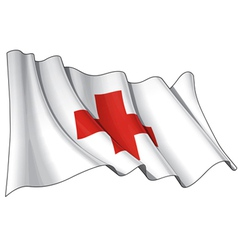 Red cross flag vector