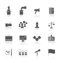 Elections icons set black vector
