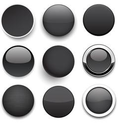 Round black icons vector