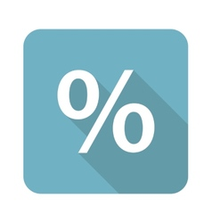 Square percent icon vector