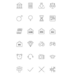 Line icons 11 vector