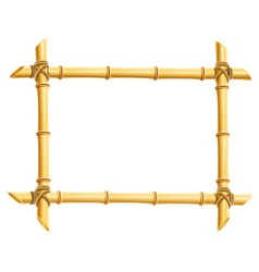 wooden frame of bamboo sticks vector image