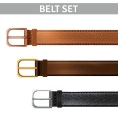 Realistic Belts Set vector image