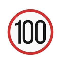 Speed limit 100 vector