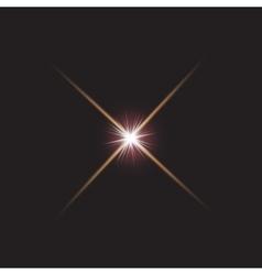 lens flares star lights vector image