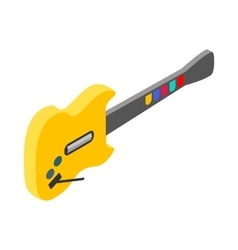 Toy electric guitar icon isometric 3d style vector image