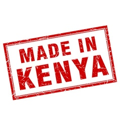 Kenya red square grunge made in stamp vector