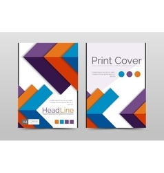 Business annual report brochure cover vector