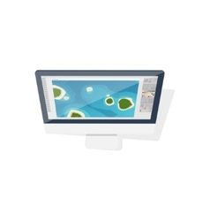 Digital drawing personal computer laptop vector