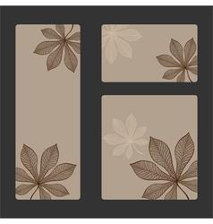 autumn sticker set vector image