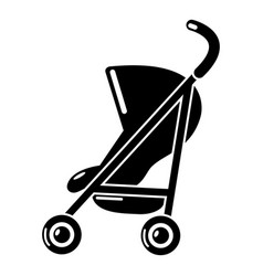 Baby carriage simple icon simple black style vector