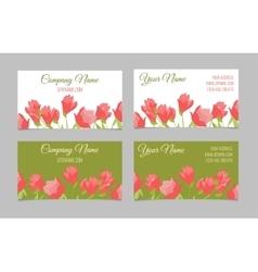 Floral business card set vector