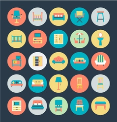 Furniture Icons 1 vector image