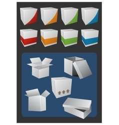 Gift and Cargo Boxes vector image