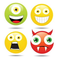 Happy face collection vector image