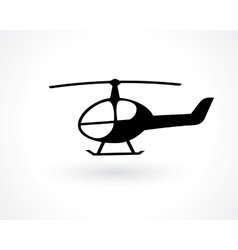 helicopter icon vector image vector image