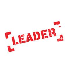 Leader rubber stamp vector
