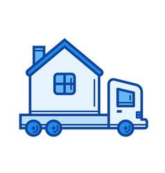 motorhome vehicle line icon vector image vector image