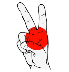Peace Sign of the Japanese flag vector image