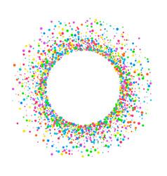 round colored confetti vector image vector image