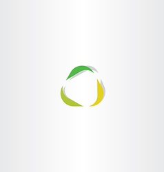 season leaves spring autumn logo icon vector image vector image