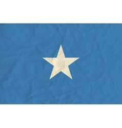 Somalia paper flag vector image