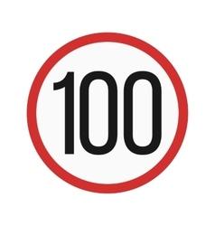 Speed limit 100 vector