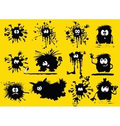 splatter characters vector image vector image