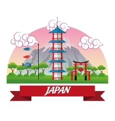 tower japan culture design vector image vector image