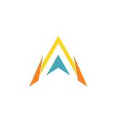 triangle letter a arrow logo vector image vector image