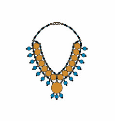 turquoise necklace vector image