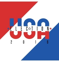 Usa presidential election 2016 poster colors vector