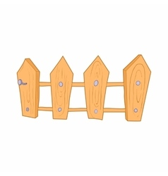 Wooden fence icon cartoon style vector