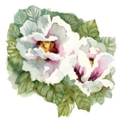 Watercolor blooming flowers in classical style on vector