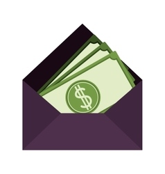 Mail envelope icon vector