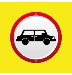 insurance car concept save car icon vector image