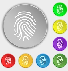 Scanned finger icon sign symbol on eight flat vector