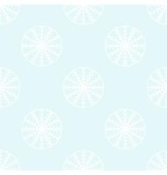 White snowflakes seamless pattern vector