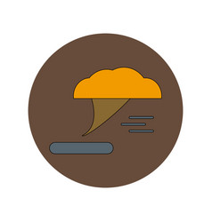 In flat design of tornado vector
