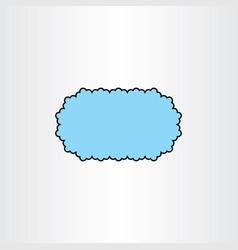 Cloud frame text box design element vector
