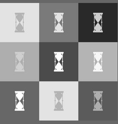 Hourglass sign   grayscale vector
