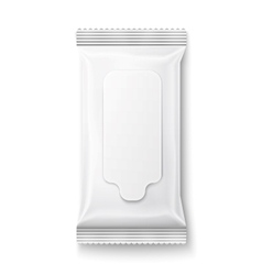 White wet wipes package with flap vector image