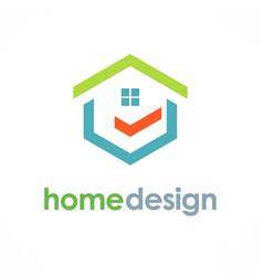 Home design logo vector