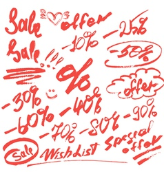Sale handwritten 380 vector