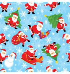 Santa seamless vector image