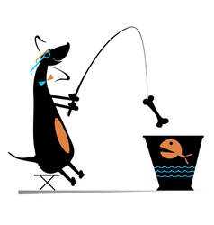 Funny fishing vector