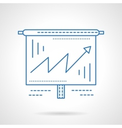 Business growing chart blue line icon vector