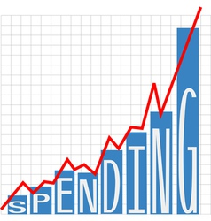 Government big spending chart vector image